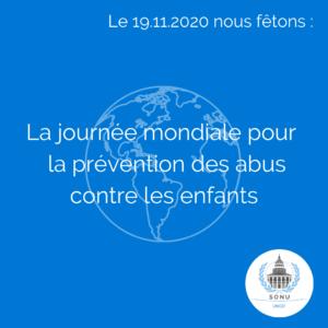 Journée mondiale pour la prévention des abus contre les enfants